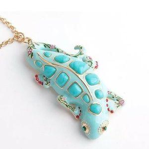 Kate♠️Spade 🦎Baja Bound Gecko Necklace